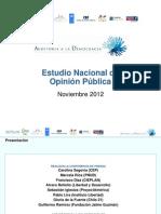 Encuesta Auditoría a la Democracia 2012. Estudio Nacional de Opinión Pública (Chile)