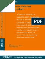DFID Sustainable Livelihoods Guidance Sheet