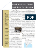 Benchmark Six Sigma Black Belt Training Brochure