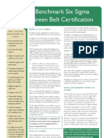 Benchmark Six Sigma Green Belt Training Brochure