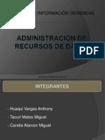 Administracion de Recursos de Datos