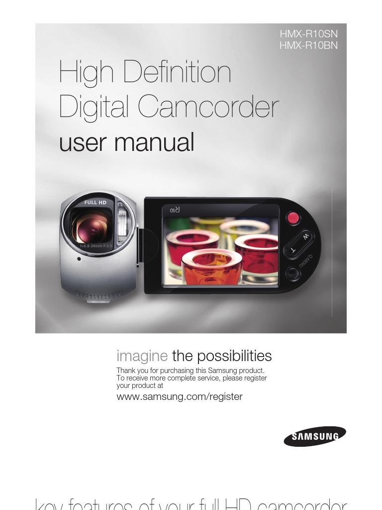 samsung camcorder hmx r10 user manual high definition television rh scribd com Manual Samsung UN32EH4000F Samsung Galaxy S3 User Guide