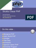 02. Struktur Dasar PHP