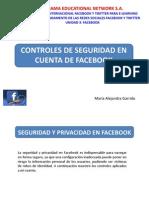 Controles de Seguridad Facebook