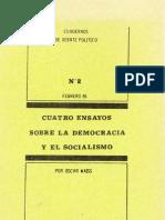- Weiss. Cuatro Ensayos Sobre La Democracia y El Socialismo 35