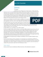 Windows Server 2012 Essentials FAQ