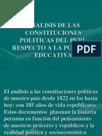Analisis de Las Constituciones Politicas Del Peru-educacion