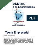 ADM-300. Teoria Empresarial