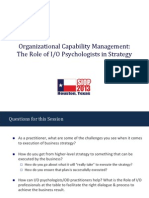 SIOP Organizational Capability