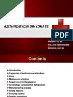 Presentation Slide on Azithromycin Dihydrate