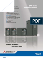 Mitsubishi E700 Variable frequency drive (VFD) _brochure