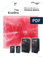 Mitsubishi E700 Variable frequency drive (VFD)  Technical Manual