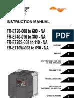 Mitsubishi E700 Variable frequency drive (VFD) Instruction Manual