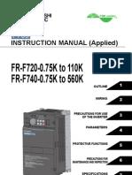Mitsubishi F700 VFD Manual-Applied-Japanese Domestic