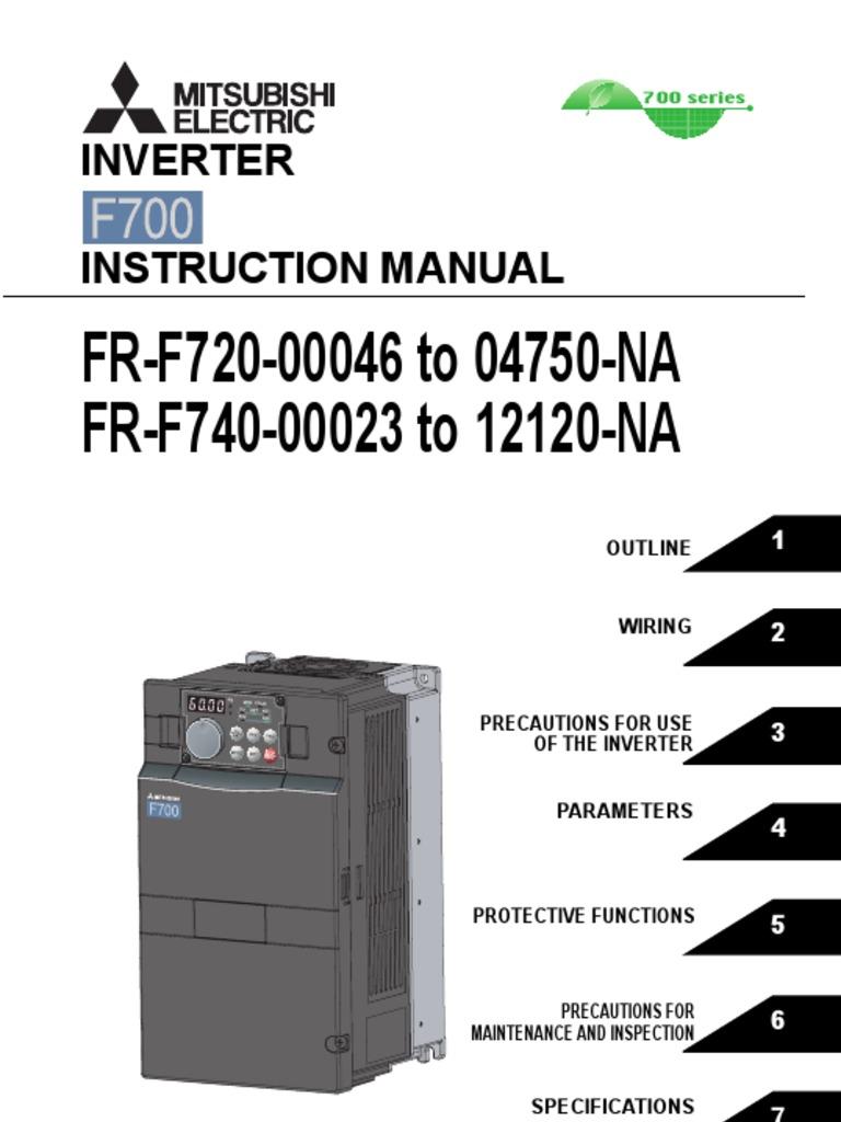 mitsubishi f700 vfd instruction manual applied power inverter rh scribd com
