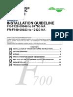Mitsubishi F700 VFD  Installation Guideline