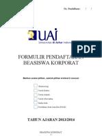 Formulir Pendaftaran Beasiswa Baru2011