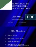 BUENAS PRÁCTICAS DE LABORATORIO (BPL) metrología