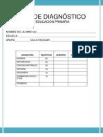 EXÁMEN DE DIAGNÓSTICO 5º GRADO DE PRIMARIA