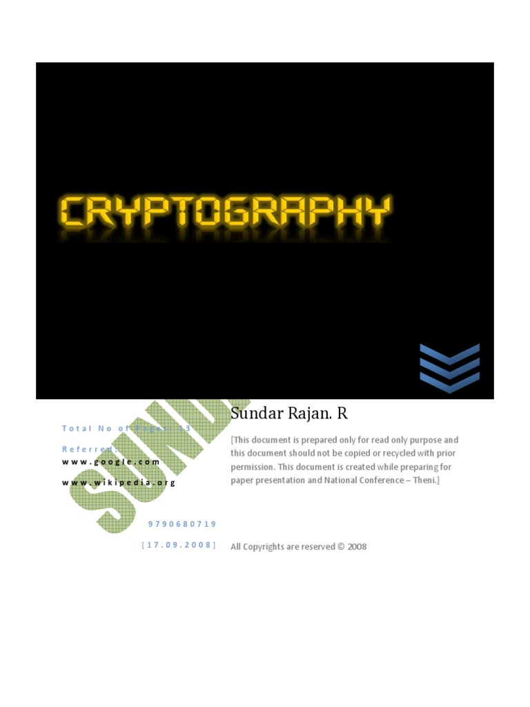 latest research paper on cryptography This is a list of important publications in cryptography this paper suggested public key cryptography merkle's work predated new directions in cryptography.