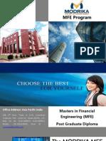 master in financial engineering brochure