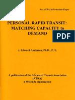 PRT-Matching Capacity to Demand