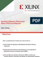 Spartan 6 Memory Resources
