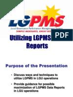 Utilizing LGPMS Information