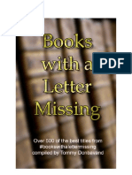 Books With a Letter Missing