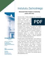 Agata Lewandowska, Wizerunek Polski i Polaków w niemieckiej prasie z 2012 roku