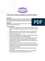 YPV Recognition Incentive Scheme Terms & Condition