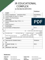 Book list 1st Class.doc