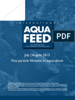 Fine particle filtration in aquaculture