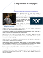2013-07-15 - Inquirer - Lacson Wants to Be 'Long Arm of Law' vs Corrupt Gov't Execs