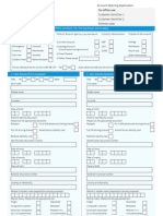 SBI UK Savings Account Opening Form