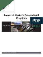 Impact of Mexico's Popocatepetl Eruptions