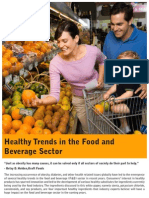 Healthy Trends in Food and Beverages Sector