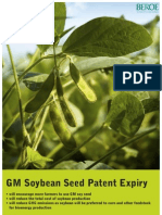 Genetically Modified Soybean Seed Patent Expiry