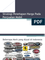 Strategi Penetapan Harga Pada Mobil
