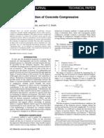 Three-Day Prediction of Concrete Compressive