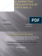 Viral Marketing Strategies Adopted by Today's MNC's