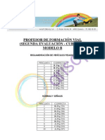 Corrector CUESTIONARIO B - Segunda evaluación - Profesor de Formación Vial Curso XV