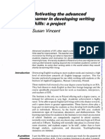 Motivating the Advanced Learner in Developing Writing Skills