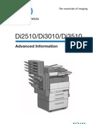 Konica Minolta DiAlta Di3010 - userguide | Photocopier