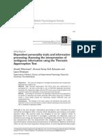 British Journal of Clinical Psychology Volume 45 issue 2 2006 [doi 10.1348/014466505x85853] Anoek Weertman; Arnoud Arntz; Erik Schouten; Laura Dreessen -- Dependent personality traits and information processi.pdf