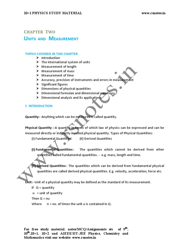 11PhyUnitb2 (1) | Observational Error | Units Of Measurement