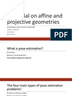 A Tutorial on Affine and Projective Geometries