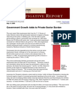 Government Growth Adds to Private Sector Burden