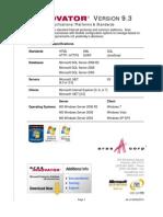 Aras Innovator 9.3 - Platform Specifications
