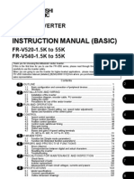 Mitsubishi v500 VFD Instruction Manual